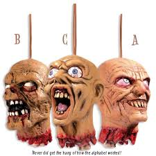 decapitated hanging head halloween prop by widmann 6882h