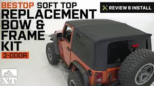 jeep wrangler 2 door soft top jeep wrangler bestop soft top replacement bow u0026 frame kit 2007