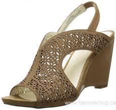 canada women u0027s crocs a leigh leather mini wedge black gold