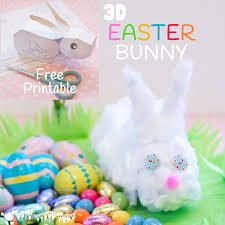 Easter Decorations Amazon by 3d Easter Bunny Printable Kids Craft Room