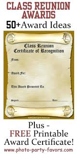 high school reunion favors template award template free printable class reunion