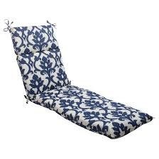 Chaise Lounger Outdoor Chaise Lounge Cushion Blue White Damask Target