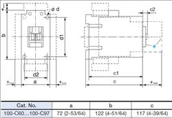 allen bradley 100 c72d10 3 pole 72 amp iec contactor with a 120