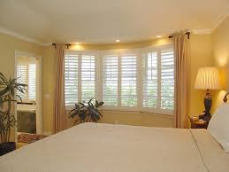 bedroom modern american style bedroom bay window with curtain