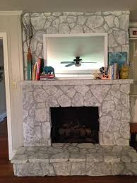 home decor painting a stone fireplace best painting a stone fireplace decor color ideas interior