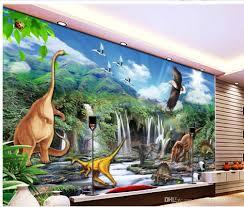 3d Wallpaper For Living Room by High Definition Jurassic Dinosaur World Living Room Tv Backdrop
