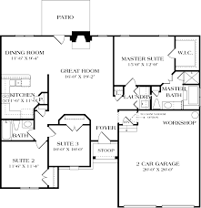 craftsman style house plan 3 beds 2 baths 1400 sq ft 453 inside