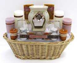 candle gift baskets retreat candle basket