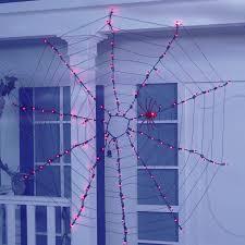 Musical Halloween Lights Purple Halloween Spider Web Light Set 100ct Walmart Com