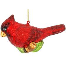 cardinal on branch glass ornament 1189712 baubles n bling