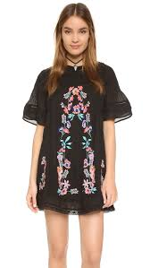 free people perfectly victorian embroidered mini dress black women