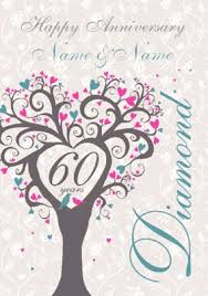 60th wedding anniversary cards funky pigeon
