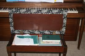 piano bench cushion bench decoration