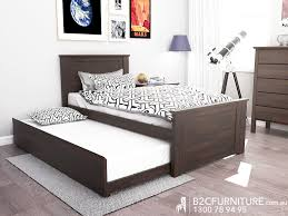 Single Trundle Bed White Modern BC Furniture - Bedroom furniture in melbourne