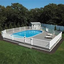 building new home cost semi inground pool with new home build cost placement