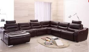 Left Facing Sectional Sofa by 2144 Italian Leather Sectional Sofa W Recliner In Brown Free