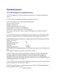 acct 505 managerial accounting final exam docshare tips