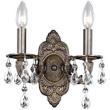 Two Light Wall Sconce Sutton Collection Bronze 11 High Two Light Wall Sconce G6374