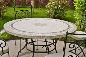 dining room stylish 63 round slate outdoor patio table stone