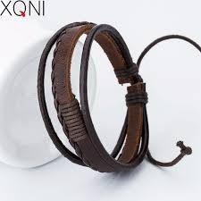 cross bracelet leather images Buy new fashion charm leather men 39 s bracelets jpg