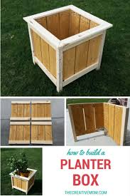 How To Make Planter Boxes by How To Build A Planter Box The Creative Mom