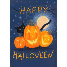 colorful garden happy halloween garden flag walmart com