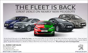 nearly new peugeot 2016 jj burke peugeot fleet is back