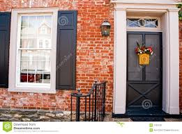 front door of brick house stock photo image 1183730