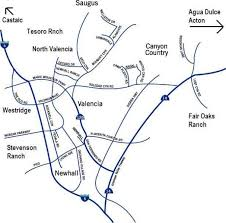 santa clarita map map santa clarita homes for sale