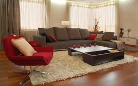 living room impressive red and brown living room schemes with