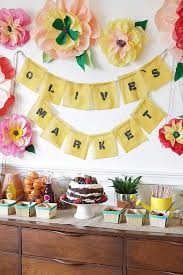 kids birthday party ideas olive s farmer s market birthday party kids birthday