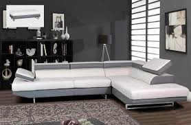 White Sectional Sofa by Modern Gray And White Sectional Sofa With Matching Ottoman Gf8137