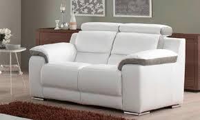 canapé relax cuir pas cher canape relax cuir blanc version bi color 751 722 canape dangle
