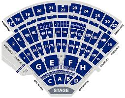 Amphitheater Floor Plan by Seating Chart