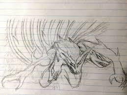 the 3 head wolf u201ckaiju strange beast u201d drawing challenge by