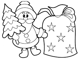 santa claus coloring pages with christmas gift coloringstar