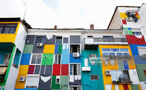painted houses albania tirana painted houses stock photo getty images