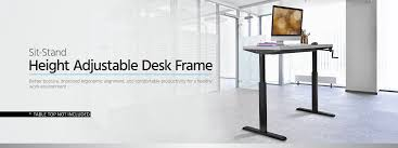 Standing Desk Posture by Sit Stand Height Adjustable Table Desk Frame Workstation Manual