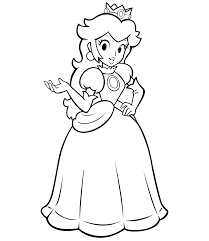 princess daisy coloring pages print quality coloring