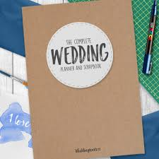 wedding planning journal wedding planner book kraft style cover wedding toolz