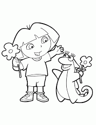 dora coloring pages to print for free coloring home
