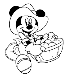 thanksgiving coloring pages disney characters