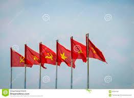 Viet Nam Flag Flagge Von Vietnam Und Von Kommunisten Stockfoto Bild 62325780