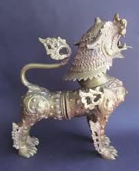 fu dog statues for sale antique large brass foo dog statue figurine