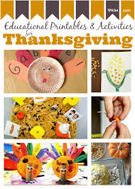 free thanksgiving educational activities and printables for