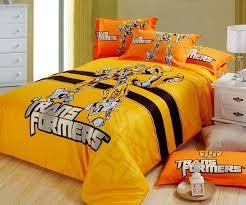 Transformer Bed Set 100 Cotton Yellow Transformer Bedding Set Boys Fitted Sheet