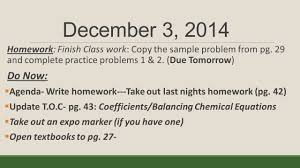 december 1 welcome back homework read pgs donow update t o c