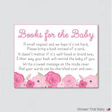 bring a book instead of a card wording pink baby shower bring a book instead of a card invitation