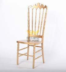 Napoleon Chair Rose Gold Solid Wood Highback Napoleon Chair For Wedding Event