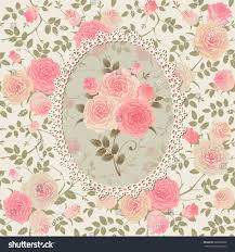 shabby chic rose pattern lace frame stock vector 228966898